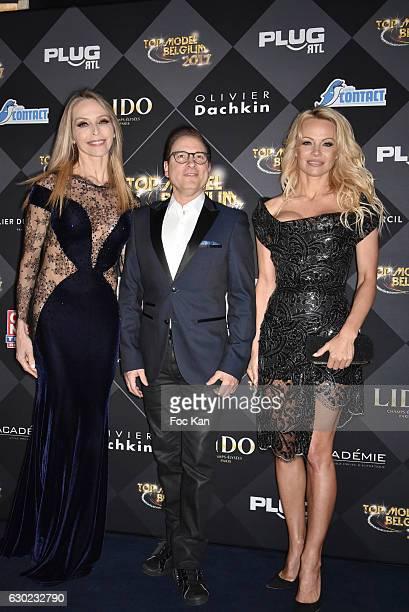 Tonya Kinzinger Jean Marc Genereux and Pamela Anderson attend the 'Top Model Belgium 2017' Ceremony at Le Lido on December 18 2016 in Paris France