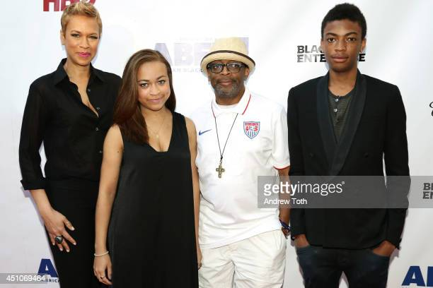 Tonya Lee Satchel Lee writer/director Spike Lee and Jackson Lee attend 'Da Sweet Blood Of Jesus' world premiere during the 2014 American Black Film...