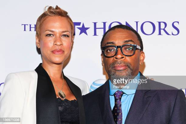 Tonya Lewis Lee and Spike Lee attend the BET Honors 2012 PreHonors dinner at the Corcoran Gallery of Art on January 13 2012 in Washington DC