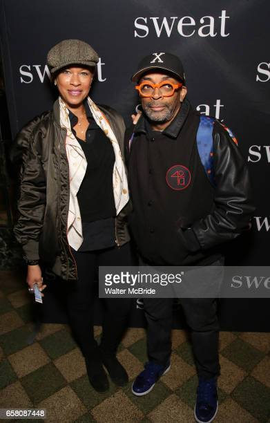 Tonya Lewis Lee and Spike Lee attend the Broadway Opening Night Production of 'Sweat' at studio 54 Theatre on March 26 2017 in New York City