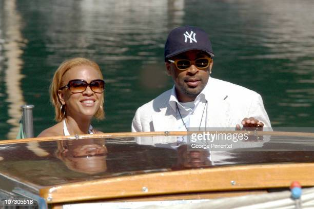 Tonya Lewis Lee and Spike Lee during The 63rd International Venice Film Festival Spike Lee and Family Sighting in Venice Lido Italy