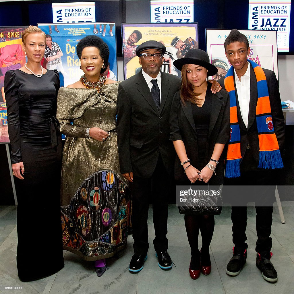 Tonya Lewis Lee, Event chair Sherry Bronfman, director Spike Lee, Satchel Lee and Jackson Lee attends The Museum of Modern Art's Jazz Interlude Gala at MOMA on December 12, 2012 in New York City.