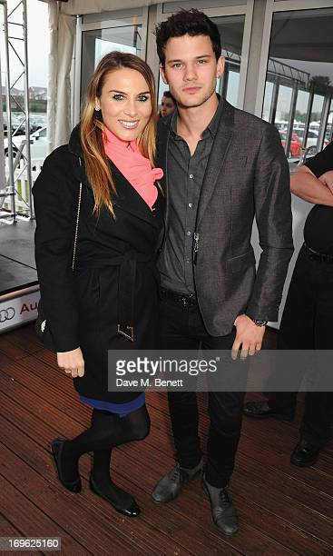 Tonya Meli and Jeremy Irvine attend the Audi Royal Polo Challenge 2013 at Chester Racecourse on May 29 2013 in Chester England