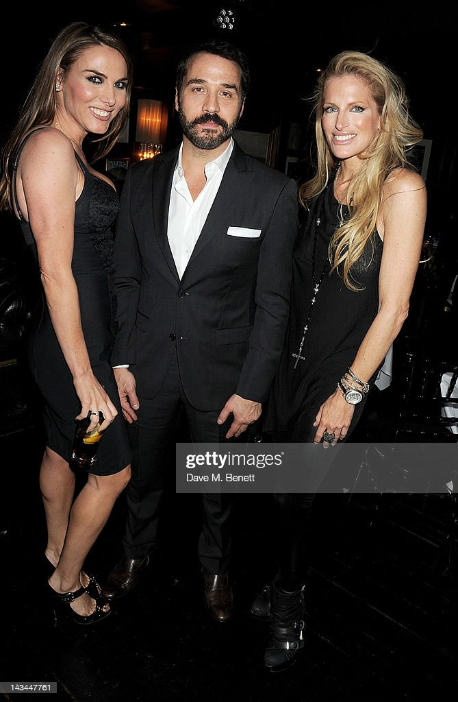Tonya Meli, <a gi-track='captionPersonalityLinkClicked' href=/galleries/search?phrase=Jeremy+Piven&family=editorial&specificpeople=206338 ng-click='$event.stopPropagation()'>Jeremy Piven</a> and Laura Comfort attend the launch of The Lion pop-up restaurant at The Brompton Club featuring a private dinner for Joseph Altuzarra hosted by Browns on April 26, 2012 in London, England.