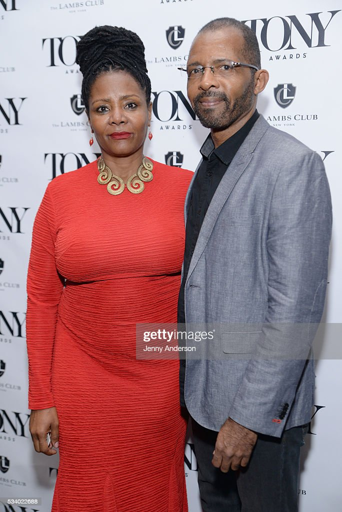 <a gi-track='captionPersonalityLinkClicked' href=/galleries/search?phrase=Tonya+Pinkins&family=editorial&specificpeople=220801 ng-click='$event.stopPropagation()'>Tonya Pinkins</a> (L) and Daryl Waters arrive at A Toast To The 2016 Tony Awards Creative Arts Nominees at The Lambs Club on May 24, 2016 in New York City.