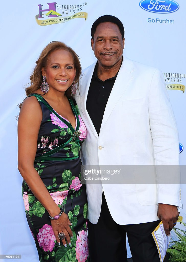 Tonya Turner (L) and her husband, former Major League Baseball player Dave Winfield, arrive at the 11th annual Ford Neighborhood Awards at the MGM Grand Garden Arena on August 10, 2013 in Las Vegas, Nevada.