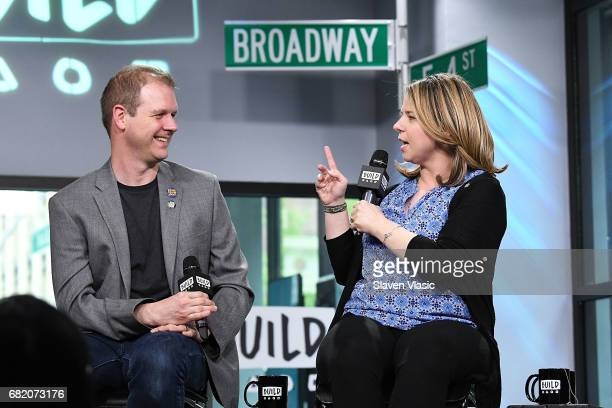 Tonynominees playwright/lyricists David Hein and Irene Sankoff visit Build Series to discuss their show 'Come From Away' at Build Studio on May 11...