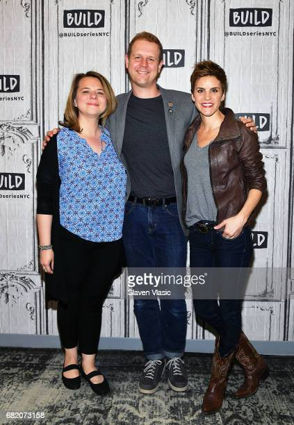 2017 Tonynominees playwright/lyricists Irene Sankoff and David Hein with actor Jenn Colella visit Build Series to discuss their show 'Come From Away'...