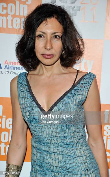 Tonywinning playwright Yasmina Reza attends the 2011 New York Film Festival opening night screening of 'Carnage' at Alice Tully Hall Lincoln Center...