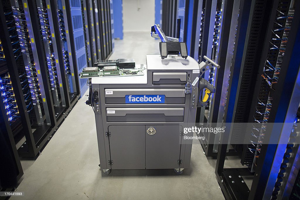 A tool and maintenance box, also known as a 'crash cart,' stands in the server hall at Facebook Inc.'s new data storage center near the Arctic Circle in Lulea, Sweden, on Wednesday, June 12, 2013. The data center is Facebook's first outside the U.S., poised to handle all data processing from Europe, Middle East and Africa and the server hub is largest of its kind in Europe, and most northerly of its magnitude anywhere on earth. Photographer: Simon Dawson/Bloomberg via Getty Images