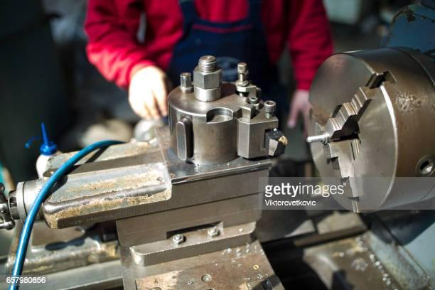 Tool Maker on a Lathe