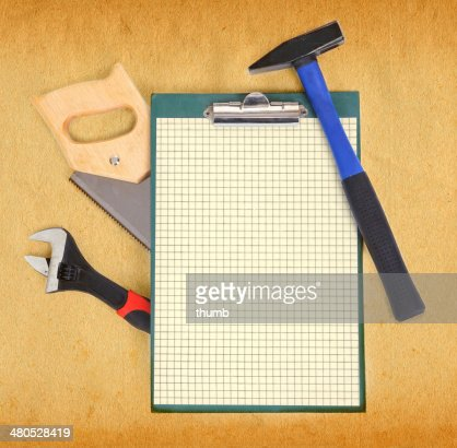 Tools and clipboard : Stockfoto
