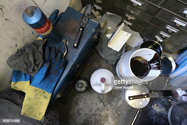 Tools and ink to service a Heidelberg offset and letterset press Coach House Press is a small books publisher The press is housed in a couple old...