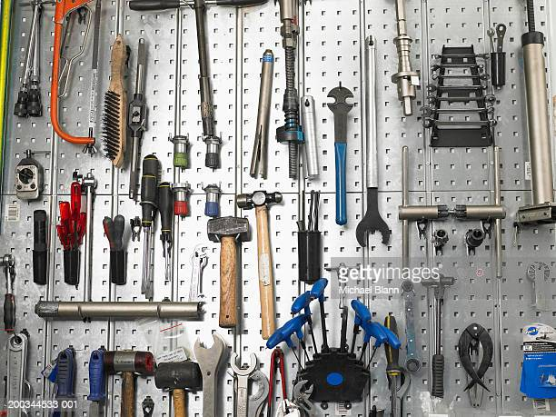 Tools hanging from wall