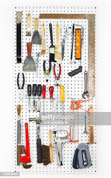 Outils suspension sur une organisation Panneau vertical perforé