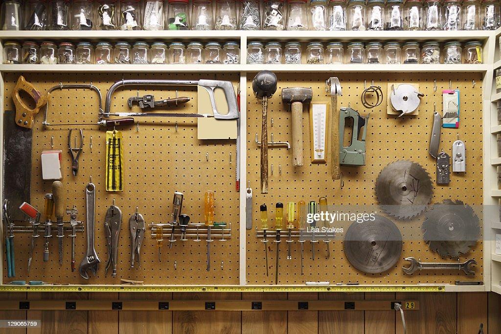 Tools hanging : Stock Photo