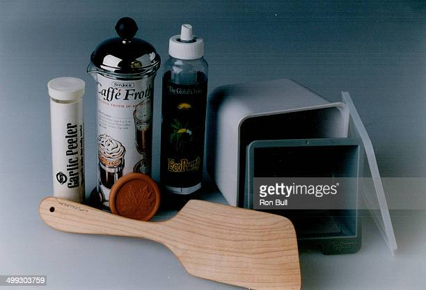 Tools of the kitchen trade Some nifty holiday gift ideas for the cook on your list clockwise from top left Garlic peeler milk frother olive oil pump...