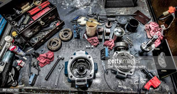 Tools on Industrial Workbench - Toned