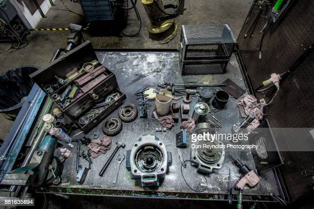 Tools on Industrial Workbench-Toned