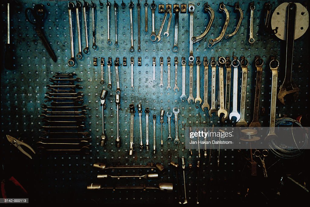 Tools on Wall : Stock Photo