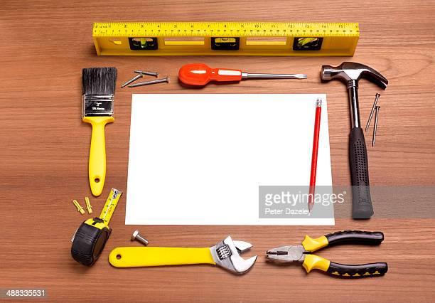 DIY tools with copy space