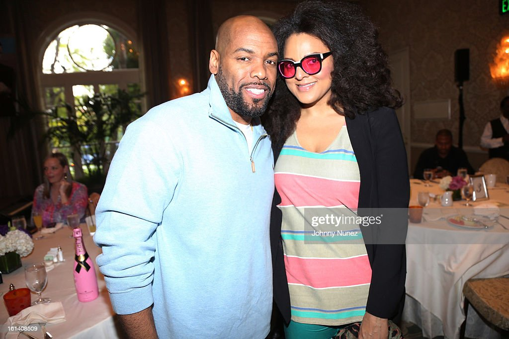 DJ Toomp and Marsha Ambrosius attend The 9th Annual Bryan-Michael Cox/SESAC Brunch Honoring Ludacris at Four Seasons Hotel Los Angeles at Beverly Hills on February 10, 2013 in Beverly Hills, California.