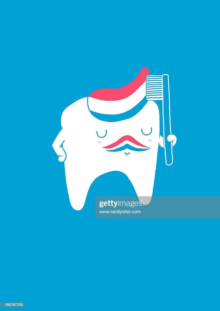 tooth brush guy : Stock Photo