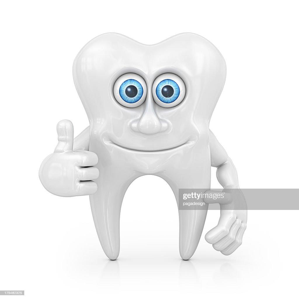 tooth character : Bildbanksbilder