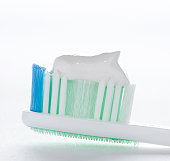 Toothbrush with toothpaste, close-up