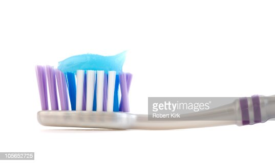 Toothbrush with toothpaste : Stock Photo