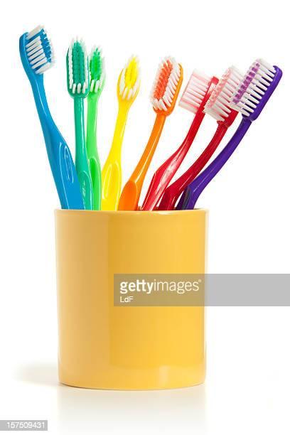 Zahnbürsten, isoliert auf weiss