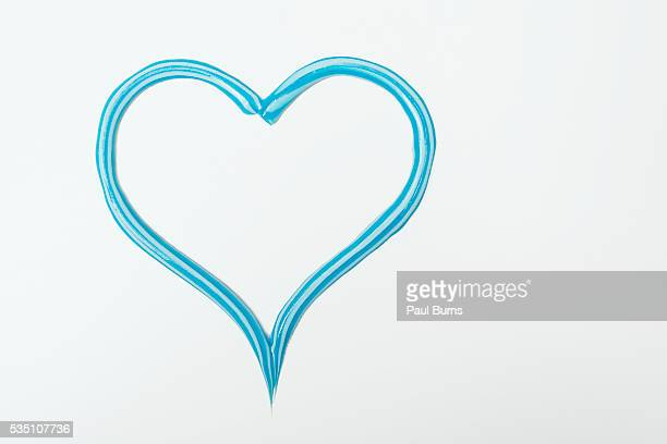 Toothpaste in shape of a heart
