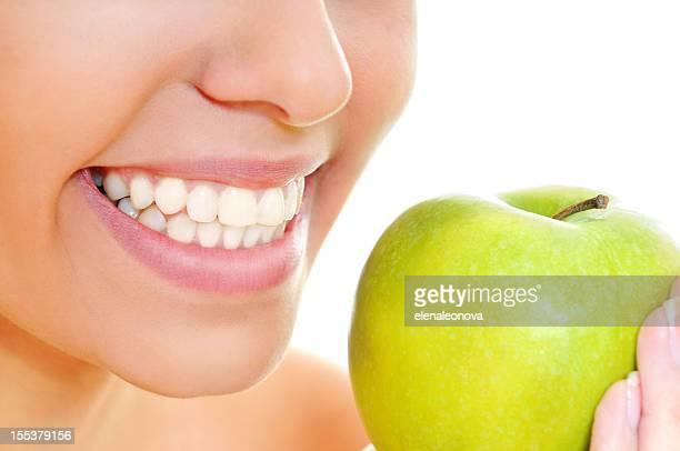 Offenes Lächeln