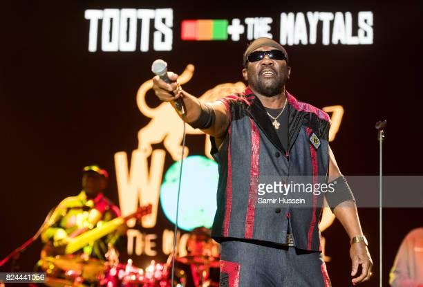 Toots Hibbert of Toots and the Maytalsperforms at Womad Festival at Charlton Park on July 29 2017 in Wiltshire England