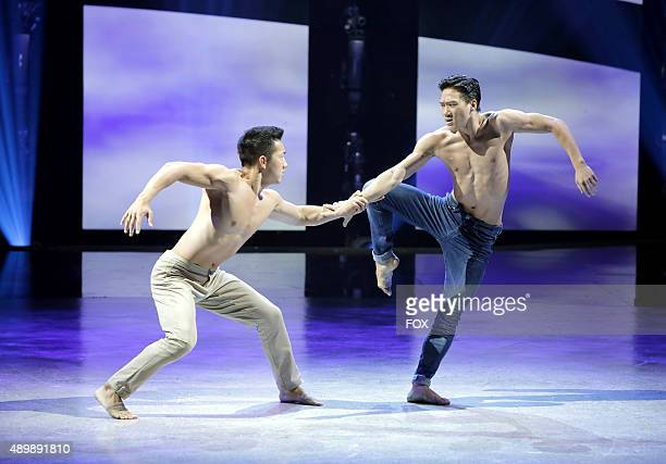 Top 10 contestant Jim Nowakowski and allstar Alex Wong perform a Contemporary routine choreographed by Travis Wall on the Season Finale of SO YOU...