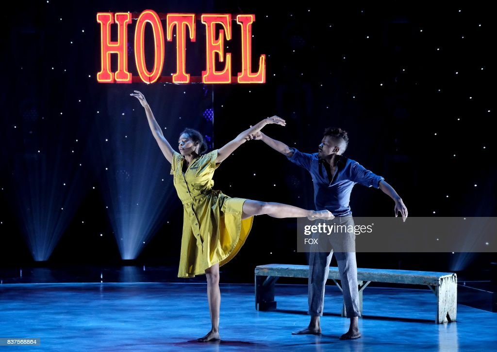 Top 10 contestant Robert Green (R) and all-star Jasmine Harper (L) perform a Contemporary routine to Otherside choreographed by Stacey Tookey on SO YOU THINK YOU CAN DANCE airing Monday, August 14 (8:00-10:00 PM ET live/PT tape-delayed) on FOX.