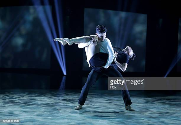 Top 10 contestants Megan Megz Alfonso and Edson Juarez perform a Contemporary routine to You There choreographed by Talia Favia on the Season Finale...