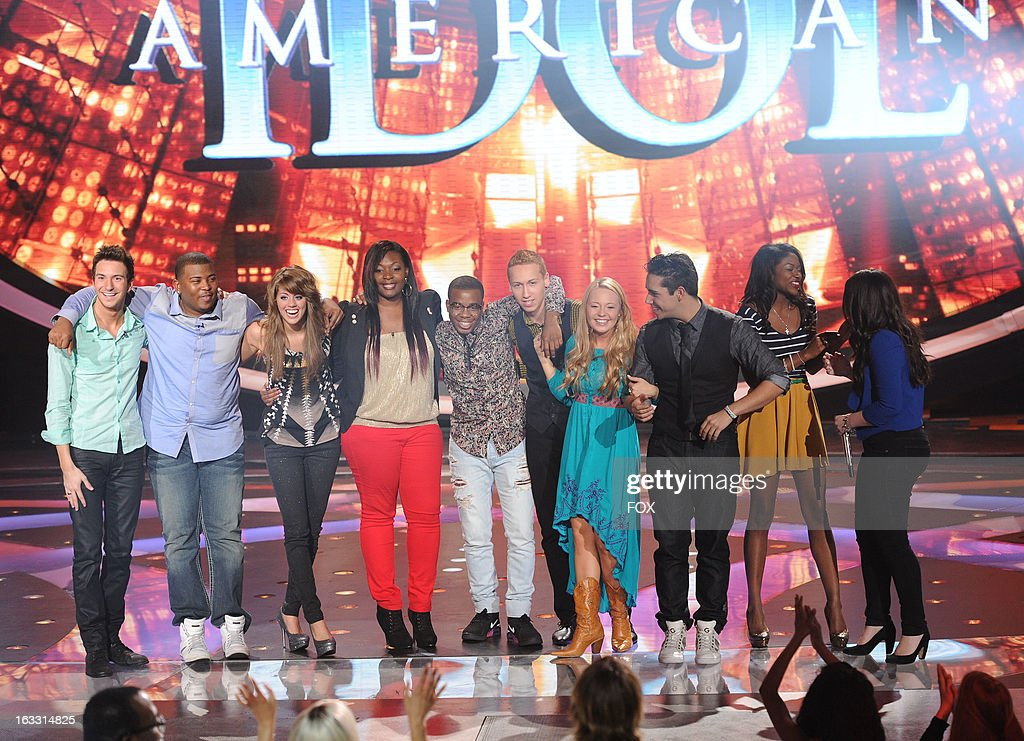 Top 10 contestants Paul Jolley Curtis Finch Jr Angie Miller Candice Glover Devin Velez Janelle Arthur Lazaro Arbos Amber Holcomb and Kree Harrison...
