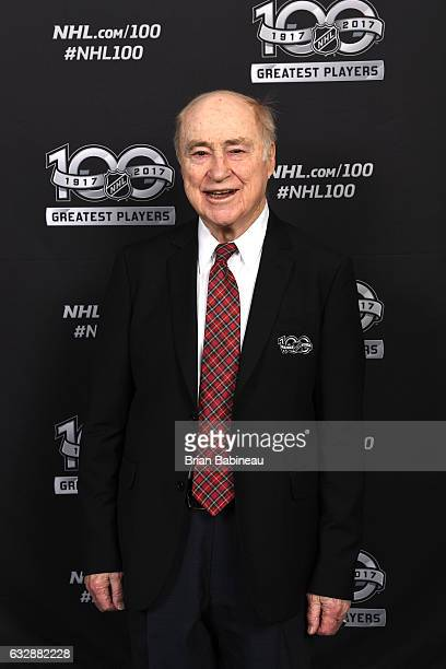 Top 100 player Red Kelly poses for a portrait at the Microsoft Theater as part of the 2017 NHL AllStar Weekend on January 27 2017 in Los Angeles...