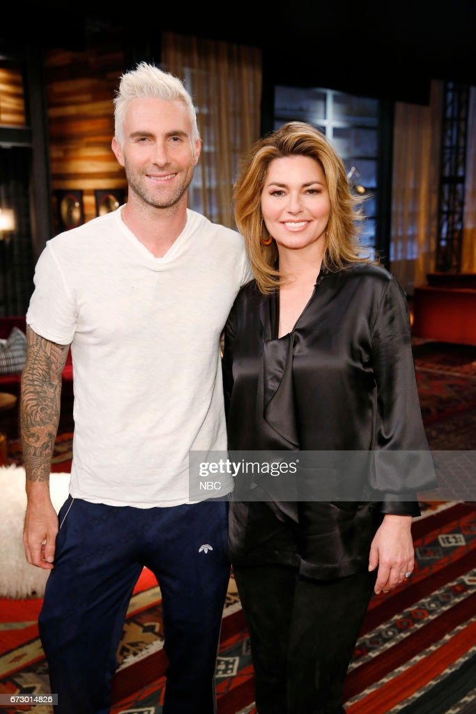 THE VOICE -- 'Top 12 Reality' -- Pictured: (l-r) Adam Levine, Shania Twain --