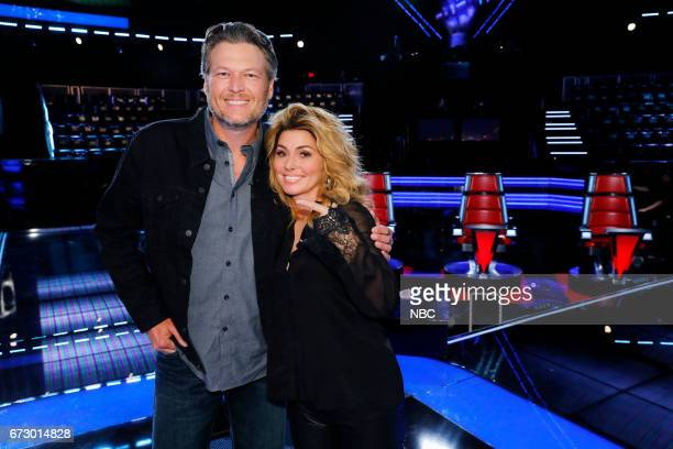THE VOICE 'Top 12 Reality' Pictured Blake Shelton Shania Twain