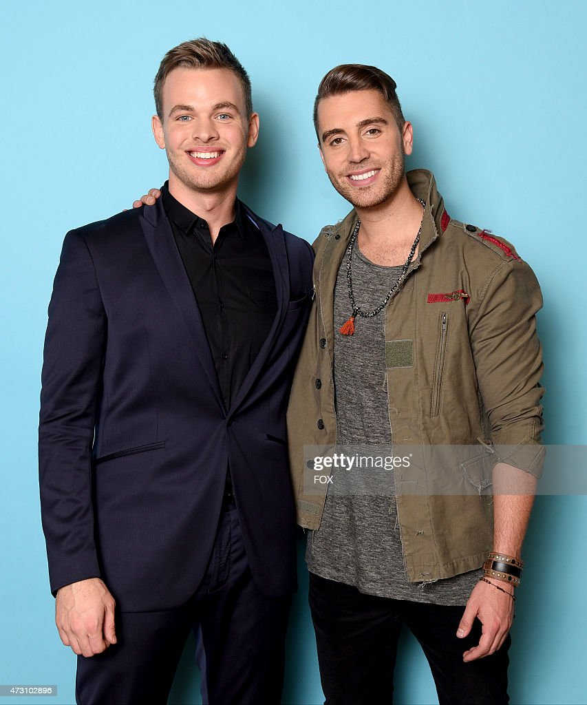 Top 2 contestants Clark Beckham and Nick Fradiani backstage at FOX's 'American Idol XIV' Top 2 Revealed on May 12, 2015 at the Dolby Theater in Hollywood, California.