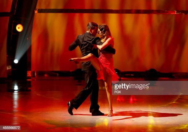 Top 20 contestants Casey Askew and Brooklyn Fullmer perform an Argentine Tango routine to 'Gallo Ciego' choreographed by Miriam Larici Leonardo...