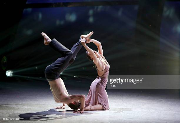 Top 4 contestant Zack Everhart Jr and allstar Amy Yakima perform a Contemporary routine to 'Europe After The Rain' choreographed by Sonya Tayeh on SO...
