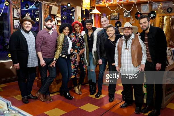 THE VOICE 'Top 8 Reality' Episode 1117 Pictured Christian Cuevas Josh Gallagher We McDonald Ali Caldwell Jennifer Hudson Aaron Gibson Billy Gilman...