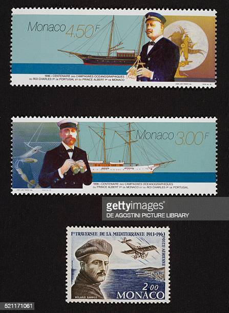 Top and centre series devoted to the Centenary of the oceanographic research promoted by Albert I Prince of Monaco and King Charles I of Portugal...