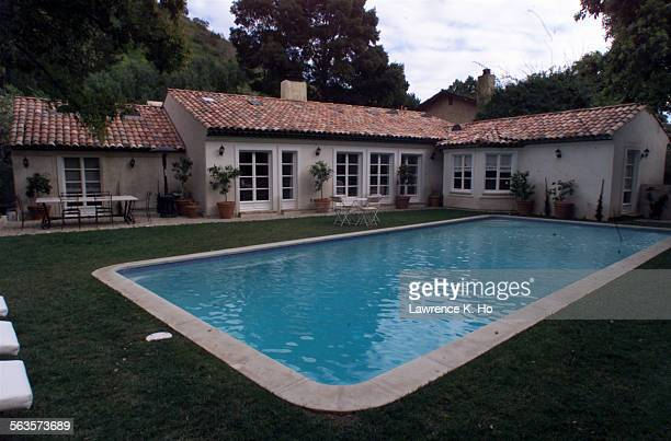 Top Beverly Hills hairstylists Christophe and wife Danielle Shatteman in their remodeled home to look like a house in the Provence Pic shows the...