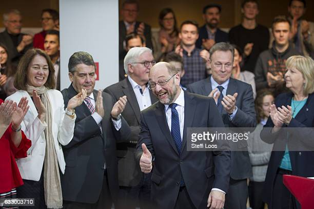 SPD top candidate for federal election Martin Schulz receives applause on January 29 2017 in Berlin Germany Germany will hold federal elections in...