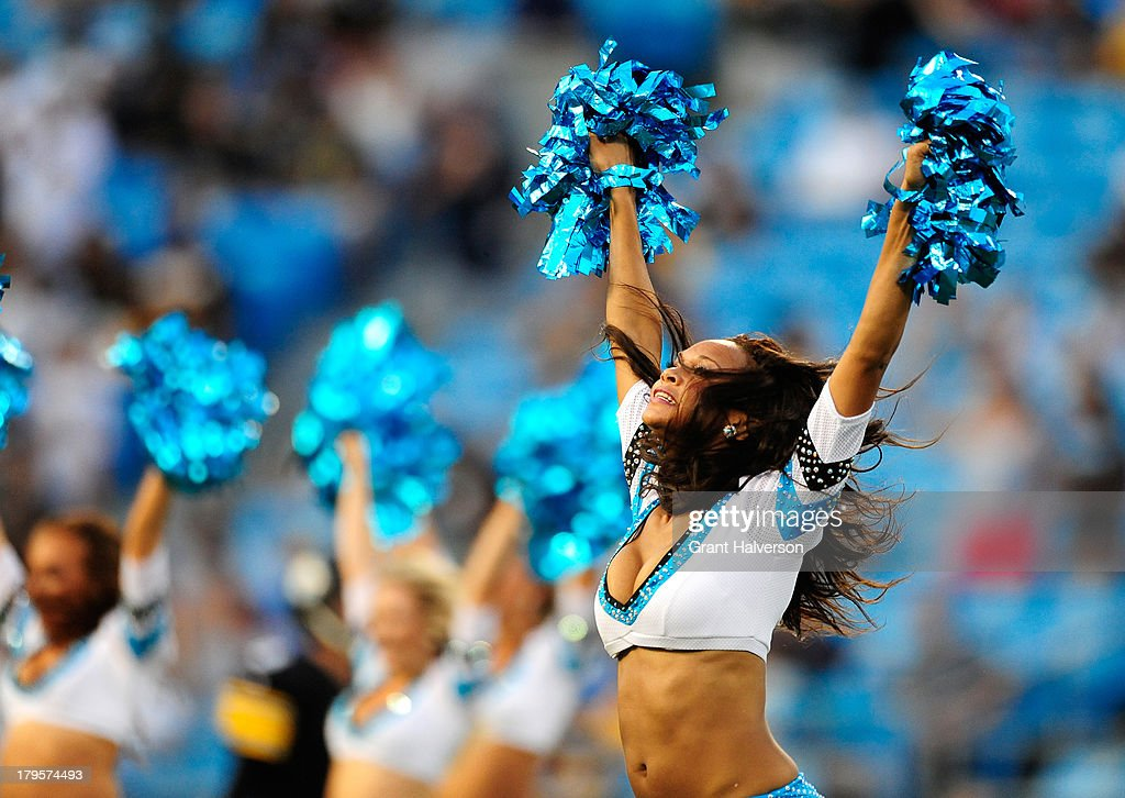 Top Cats cheerleaders perform during a game between the Carolina Panthers and the Pittsburgh Steelers at Bank of America Stadium on August 29, 2013 in Charlotte, North Carolina. The Panthers won 25-10.