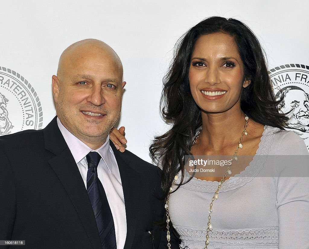'Top Chef' co-stars <a gi-track='captionPersonalityLinkClicked' href=/galleries/search?phrase=Tom+Colicchio&family=editorial&specificpeople=4167072 ng-click='$event.stopPropagation()'>Tom Colicchio</a> and <a gi-track='captionPersonalityLinkClicked' href=/galleries/search?phrase=Padma+Lakshmi&family=editorial&specificpeople=201593 ng-click='$event.stopPropagation()'>Padma Lakshmi</a> attend The Friars Club Presents: Do You Think You Can Roast?! <a gi-track='captionPersonalityLinkClicked' href=/galleries/search?phrase=Padma+Lakshmi&family=editorial&specificpeople=201593 ng-click='$event.stopPropagation()'>Padma Lakshmi</a> at New York Friars Club on February 1, 2013 in New York City.